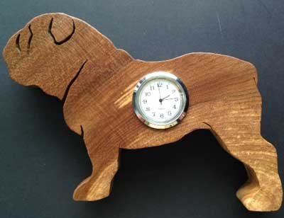 Shaped Bulldog Clock