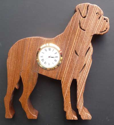 Shaped Bull Mastiff Clock