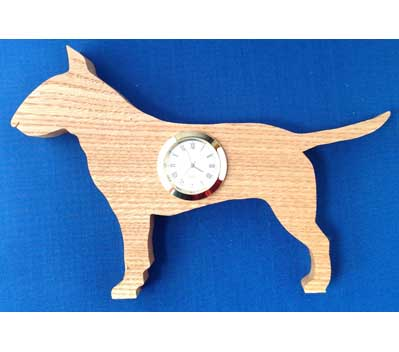 Shaped Bull terrier Clock
