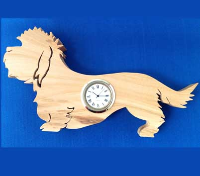 Shaped Dandie dinmont Clock