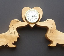 Dachshund love Clock