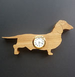 Shaped Dachshund Clock