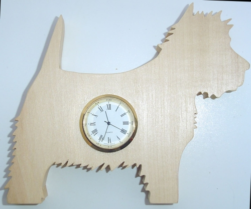Westie Shaped Clock