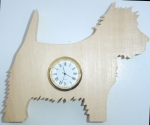 Shaped Westie Clock