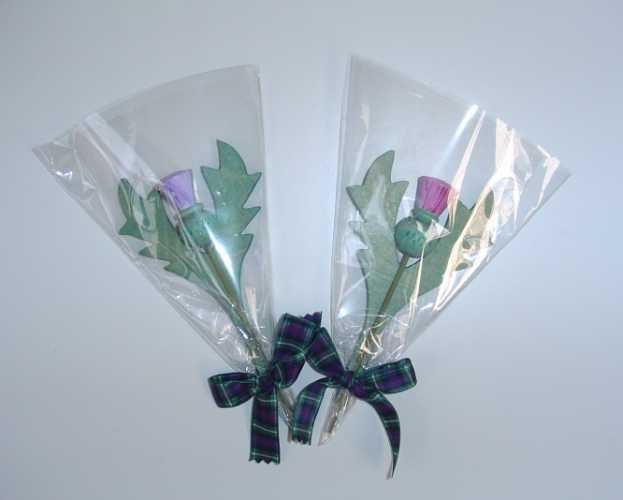 Thistle wrapped bunch