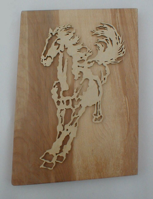 Chinese style horse wall plaque